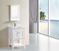 "Beautiful Zuri 24"" Bathroom Vanity White ONLY $399"