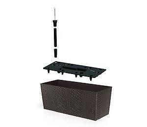pflanzkasten polyrattan pflanzgef e ebay. Black Bedroom Furniture Sets. Home Design Ideas