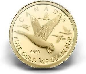 2011 1/25 ounce gold Canada Geese Coin