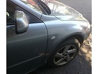 Mazda 6 O/S Front Wing In Silver Breaking For Parts (2005)