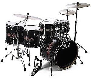 Pearl Tribal Birch 6 piece plus 8 cymbals with stands