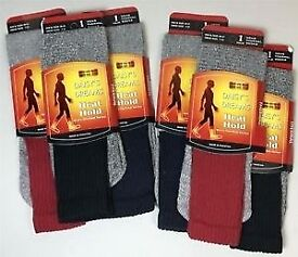 NEW 6 Pairs of Mens Heat Hold Thermal Socks Shoe Size UK 7 - 12/EU 40 - 47