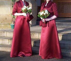 2 Bridesmaid/Formal Dresses - Bordeaux / Wine colour