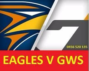 1-6 COST PRICE  WEST COAST EAGLES V GWS GIANTS TICKETS Leederville Vincent Area Preview