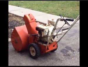 Snowblower swap-trade in your old machine