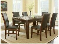 Marble Top Dining Table with 6 chairs RRP £1600