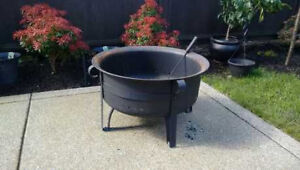 Outdoor Fire Pit with Cover