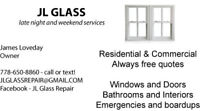 JL Glass Repair - We fix and install glass - Always free quotes!