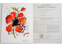 DOMINIC PANGBORN - ABSTRACT POPPY, Print. Complete with 'Certificate of Authenticity'