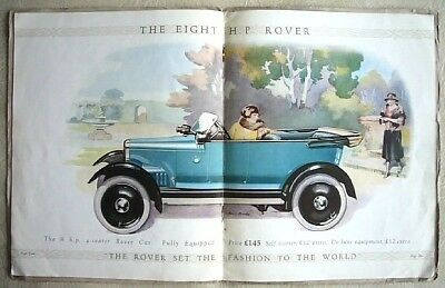 Rover 8hp Light Car Brochure 1924 Flat Twin Super