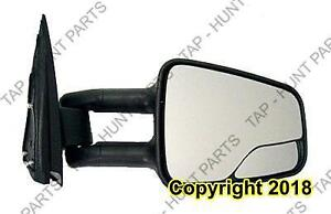 Door Mirror Manual Passenger Side Tow Type With Folding With Blind Spot Textured GMC Yukon 2000-2006