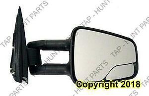 Door Mirror Manual Passenger Side Tow Type With Folding With Blind Spot Textured GMC Sierra 1999-2007