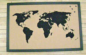 Bulletin Board with the World Map