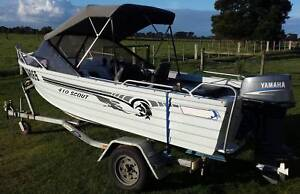 Allycraft 4.1m Scout 40 HP Yamaha Sale Wellington Area Preview