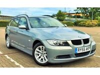 2005/55 BMW 320D SE TOURING, 86K MILES in BLUE, FSH, MOT TILL DEC 2016, ICE COLD AIR CON !!!!!!!!!!!