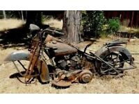 Wanted old motorbikes any make or cc for restoring runner non runner car parts joblots