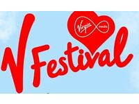 V.FESTIVAL WESTON PARK STAFFORDSHIRE WEEKEND WITH CAMPING. 20-AUG-2016 VIRGIN