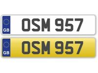 "Dateless Private Registration Plate: ""OSM 957"""