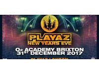 PLAYAZ NEW YEARS EVE AT THE BRIXTON ACADEMY £35 EACH