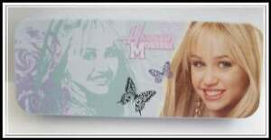 NEW-Disney-HANNAH-MONTANA-Tin-Pencil-Case-Trinket-Box-Green
