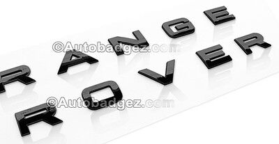 1 -New RANGE ROVER Land Rover Sport HSE Hood or Trunk Emblem Badge (GLOSS BLACK)