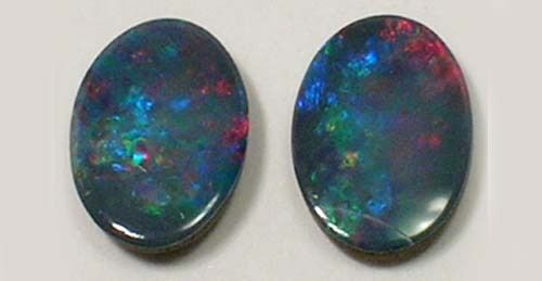 2 Antique Aussy Black Opals Ancient Roman Cupid Stone Mark Antony's Favorite Gem