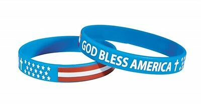 God Bless America Wristband Silicone Bracelet   New In Package