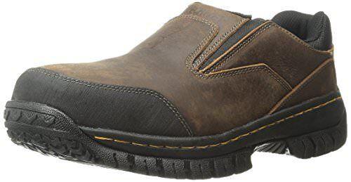 Skechers for Work Men's Hartan Slip-On Shoe, Brown, 12 M US 77066