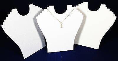3 White 9 Velvet Necklace Pendant Jewelry Displays