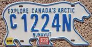 Nunavut License Plate