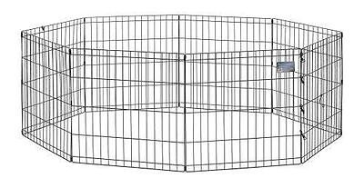 Dogs Containment Pen Indoor Outdoor Crate Dog Folding Portable Safety Bars NEW