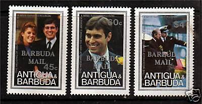 Barbuda 1986 Royal Wedding SG891/3 MNH