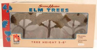 Lifelike  1980 Elm Trees 5 6  Pack Of 3 Great For Ho O Trains Slot Cars Bendable