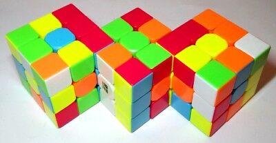 Triamese, Triplet Siamese stickerless rubik's cube twisty puzzle rubix