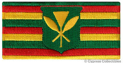 ORIGINAL HAWAII STATE FLAG embroidered iron-on PATCH HAWAIIAN Kanaka Maoli