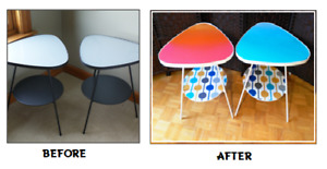Ombre Triangle Patio Tables - Upcycled