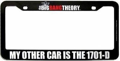 STAR TREK BIG BANG THEORY LICENSE PLATE MY OTHER CAR 1701-D USS ENTERPRISE NEW for sale  Shipping to Canada