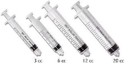 Plasdent Luer Lock Disposable Irrigation Syringes 3cc 100bx