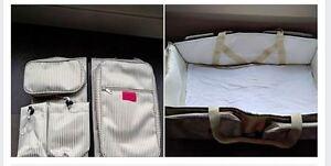 3 in 1 Premium Diaper Bag, Convertible Bassinet, Change Station