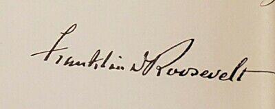 Franklin D Roosevelt FDR Signed Document Foreign Service 1939 Luedtke Minnesota