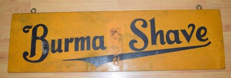 Antique BURMA SHAVE Wooden Advertising Sign NICE WORK WILLIE Barbershop 2 Side