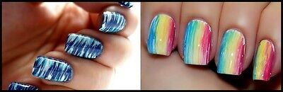 10 types of nail art brushes and how to use them ebay nail art created using a fan brush prinsesfo Image collections
