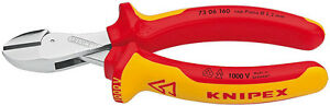 Knipex-73-06-160-VDE-Insulated-X-Cut-Compact-Diagonal-Side-Cutters-160mm