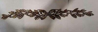 Laurel Brass Furniture Applique Ornament Pediment LARGE 8.5 inches
