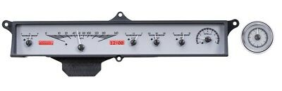 Dakota Digital 63 64 Cadillac Car Analog Gauge System Silver Red VHX-63C-CAD-S-R