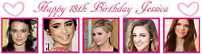 Birthday Banners With Photo Personalized (Personalized 18th Birthday Party Banner Poster with)