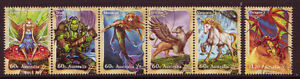 AUSTRALIA-2011-MYTHICAL-CREATURES-SET-OF-6-FINE-USED