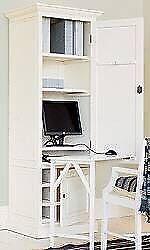 Genuine OKA white distressed cabinet/ workstation Laura Ashley Habitat