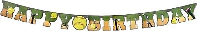 Softball Party Supplies (Fastpitch Softball Party Happy Birthday Banner)