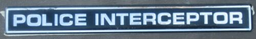 Old Original Vinyl Factory POLICE INTERCEPTOR Exterior Patrol Car Decal Sticker